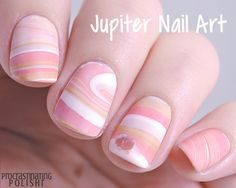 Jupiter Nail Art A space-tastic water marble to celebrate the arrival of the Juno probe at Jupiter. Nerdy Nail Art forever!