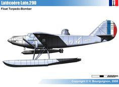 The Latécoère 290 was a torpedo bomber floatplane produced in France during the 1930s. Designed by Latécoère in response to an Aéronavale specification for such an aircraft, the 290 was based on its successful Laté 28.3 mail plane. It was a conventional high-wing, strut-braced monoplane that carried a single torpedo externally under the fuselage.