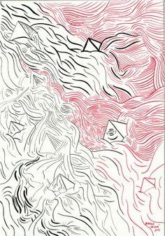 Black +Red by Barbora Idesová, via Behance