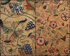 https://flic.kr/p/6mKbgC | 17C Embroidery - flower motif | Victoria and Albert Museum - British Galleries