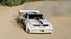 """Audi Sport Quattro S1 spanking it up Pikes Peak in """"The Race To The Clouds""""."""