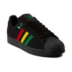 mens adidas superstar hemp athletic shoe black/rasta from The Bassfiend Store