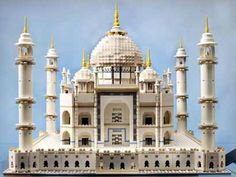 Taj Mahal, made from Legos.