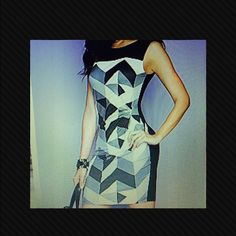 Geometric Dress Geometrically Gorgeous! Made to give the body a more slender look! (New) Dresses