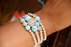 Mix and Match Larimar Bracelet Blink | The Larimar Shop | Dominican Handcrafted Larimar Jewelry