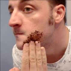 "Wonder if this works??? ""Finally, a way to get rid of unwanted hair ANYWHERE! For 1 week, rub 2 tbsp coffee grounds mixed with 1 tsp baking soda. The baking soda intensifies the compounds of the coffee breaking down the hair follicles at the root!"""