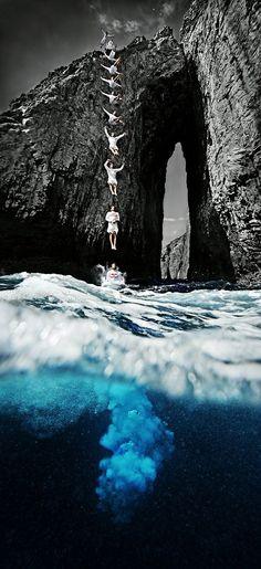 Cliff Diving in Perspective #boldbro