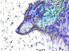 "Original artwork ""Blue Wolf"""