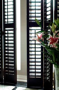 buy black plantation shutters - Google Search