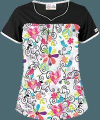 Tops Scrub de la Mujer, de impresión, Tops, Scrub Tops: en Uniform Advantage