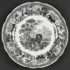 Spode Archive Collection ,Black Transferware - found a similar plate at Arc a month ago!