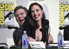 Twitter -- Chris Pine with Gal Gadot on SDCC 2016 --- awwww cute couple ♥