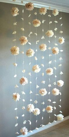 Floral backdrop Flower petal wedding backdrop by DyasGallery