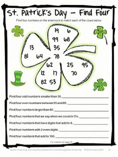Fun Games 4 Learning: St. Patrick's Day Math Freebies