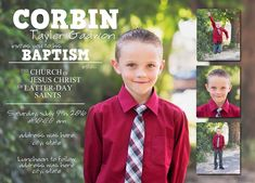 What 5 Teach Me: LDS Boy Baptism Invitation