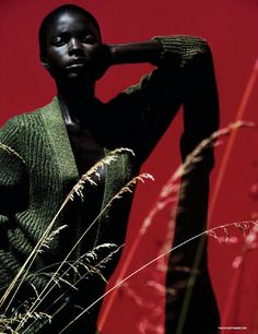 Jeneil Williams by Julia Noni for Vogue Germany September 2013 | The Fashionography