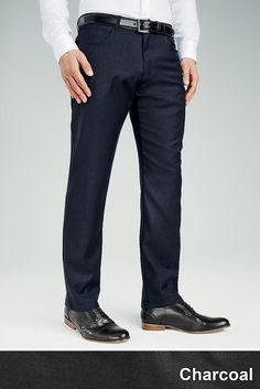 Five-Pocket-Hose aus Wollgemisch  Anthrazitfarbene Hose: 60% Polyester, 40% Wolle....