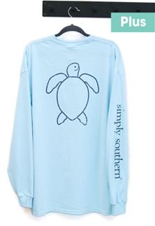 ae3088b0447 Simply Southern Shirts. Simply Southern Preppy Collection Plus Size Vintage  Logo Turtle Long Sleeve T-shirt for Women in ...