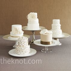 Mini Wedding cakes. i love this idea - maybe even cupcake cakes!