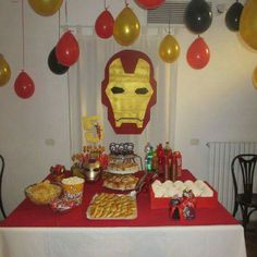 We have all amazing Iron man party supplies ideas in USA, we can assure you that you can never get such best quality accessories from anywhere else. Ninja Birthday Parties, Superhero Birthday Party, Birthday Party Themes, Birthday Ideas, Iron Man Theme, Iron Man Party, Iron Man Birthday, Boy Birthday, Manly Party Decorations