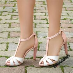 Keops Pudra Beyaz İnce Topuklu Ayakkabı #bridal #shoes #white
