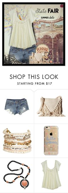 """""""Summer Date: The State Fair 3"""" by majezy ❤ liked on Polyvore featuring American Eagle Outfitters, Billabong, Panacea, Agent 18, Kenneth Jay Lane, Calypso St. Barth and Oscar de la Renta"""