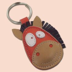 Items similar to Ronnie The Cute Little Horse Leather Animal Keychain on Etsy Leather Art, Leather Gifts, Leather Jewelry, Crea Cuir, Horse Crafts, Wallet Pattern, Leather Flowers, Leather Projects, Leather Keychain