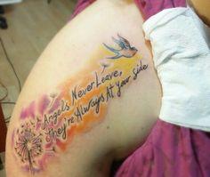 Porfin con mi tatto! Los ángeles nunca se van,  siempre están a tu lado