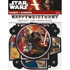 Star Wars Episode 7 The Force Awakens Jointed Birthday Banner -- Want additional info? Click on the image. (This is an affiliate link)