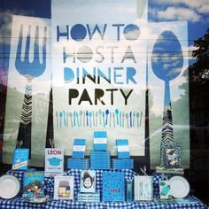 How to Host a Dinner Party / window display by Kalpna Patel
