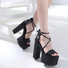 Punk Fashion, Gothic Fashion, Kpop Fashion, Korean Shoes, Korean Sandals, Rainbow Heels, Gothic Boots, Dress Shoes, Shoes Heels