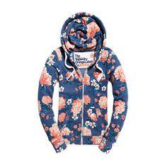 Superdry Orange Label Primary Zip Hoodie ($73) ❤ liked on Polyvore featuring tops, hoodies, blue, hooded zipper sweatshirts, embroidered hoodies, orange zip hoodie, zipper hoodie and logo hoodies