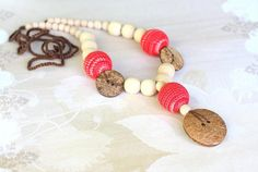 Teething necklace Nursing Breastfeeding necklace by ForeverValues, $20.50