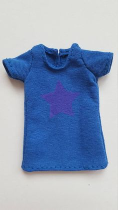 Blue T-Shirt with purple star for Pullip doll