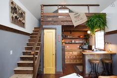 Lots of design elements I like about this space. LOVE the tiny clawfoot tub! This tiny home is NOT portable.