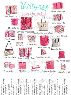 Thirty-One is all over our house for storage. These bags are so versatile and we can take them everywhere