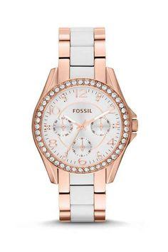 watch  fossil  white  gold Aktuálne Módne Trendy 6db3f671f10