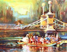 "Daily+Paintworks+-+""Swan+Boats,+Boston+Public+Garden""+-+Original+Fine+Art+for+Sale+-+©+Karen+Bruson+"