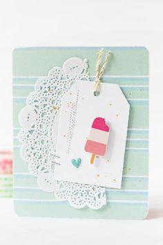 mojosanti : Zwei neue Karten mit Eis und dem Junikit 2015 von Freckledfawn I Two new cards with June embellishment kit from freckledfawn