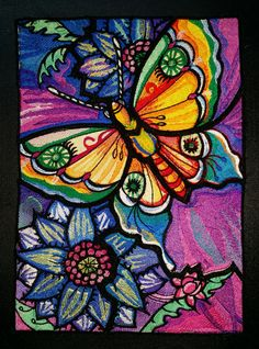 Stained Glass- Machine Embroidery !