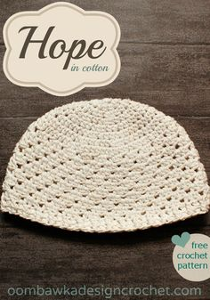 Hope for women -  in cotton - a free crochet pattern