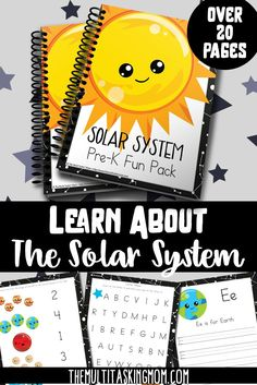 Solar System Prek Fun Pack is part of Science Theme Solar System - Take your preschooler on a tour of our solar system with this fun pack! This preK fun pack is the perfect starter to this study! Solar System Activities, Learning Activities, Space Activities, Teaching Ideas, Galaxy Solar System, Our Solar System, Science Lessons, Science Fun, Toddler Preschool