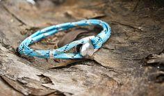 Bracelet nautique de bouton bleu ciel | crochet de bracelet pour homme…