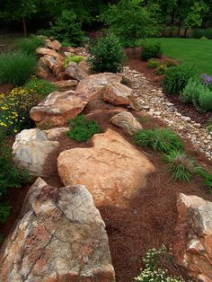 the rock garden dried river bed