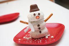 Stacked Donut Snowmen