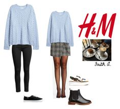 """H&M"" by cutenevii on Polyvore featuring moda y H&M"