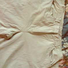 Petite Sophisticate beige pants The Petite Sophisticate pants are made from a100% cotton and 100% Algedon materials. The pants are size 10 and are very comfortable. You can wear these casual or dressy and to any event you have. Petite Sophisticate Pants Straight Leg