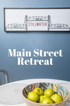 Looking for a cozy winter getaway in a small Minnesota town? Look no further than the Main Street Retreat, conveniently located downtown in Stillwater, Minnesota. Stillwater Minnesota, Small Town America, Winter Destinations, One Bedroom Apartment, Cozy Winter, Winter Travel, Main Street, Day Trips, Trip Planning
