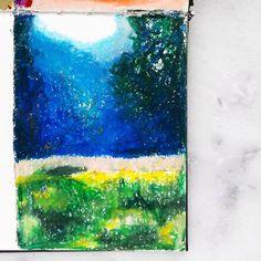 Flower field Creative Diary, Pastel, Abstract, Artwork, Flowers, Painting, Instagram, Work Of Art, Summary