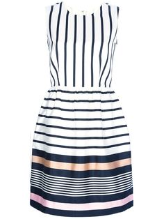 RAOUL striped silk dress